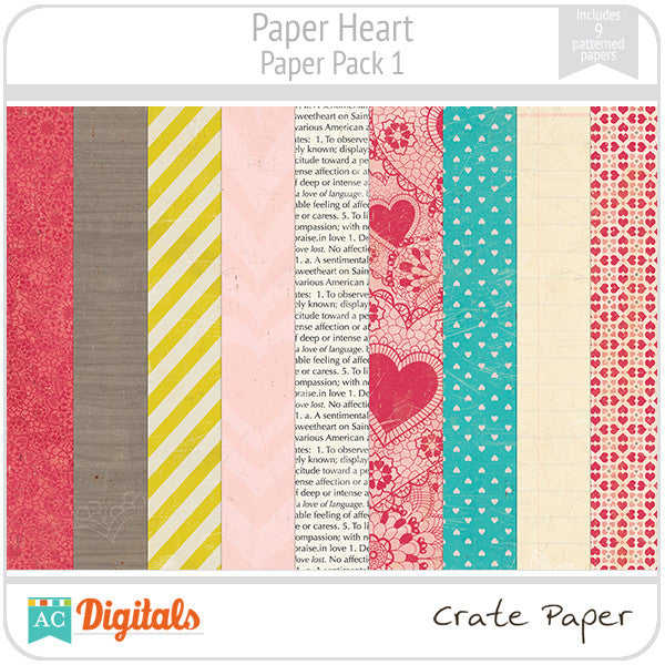 Paper Heart Paper Pack #1