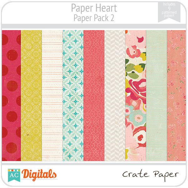 Paper Heart Paper Pack #2
