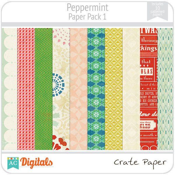 Peppermint Paper Pack #1