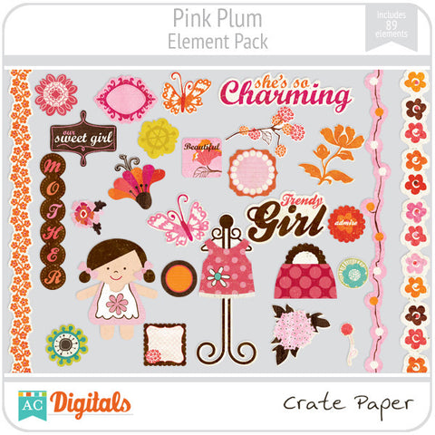 Pink Plum Element Pack