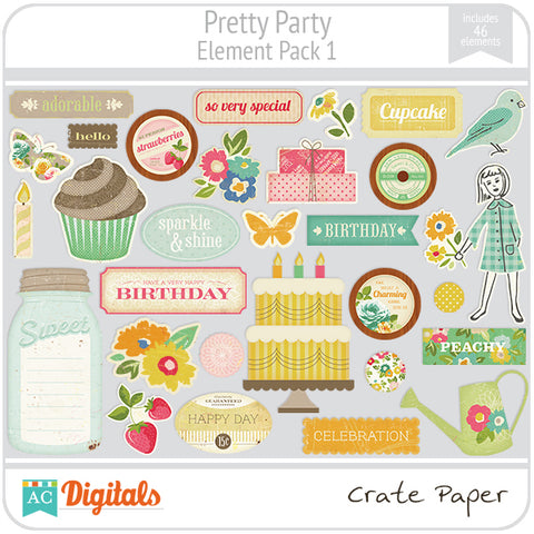 Pretty Party Element Pack #1