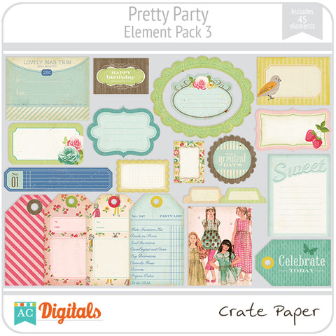 Pretty Party Element Pack #3