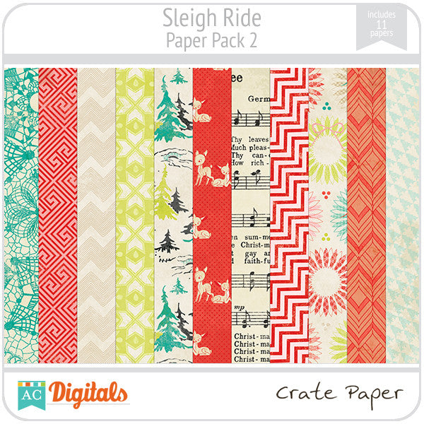Sleigh Ride Paper Pack #2