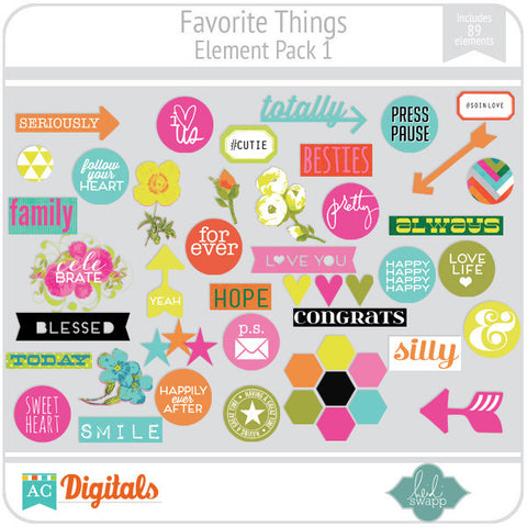 Favorite Things Element Pack 1