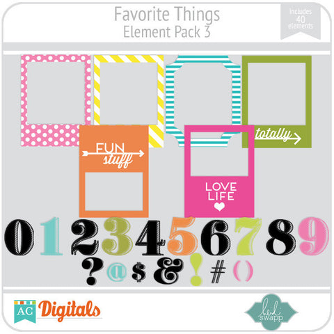 Favorite Things Element Pack 3