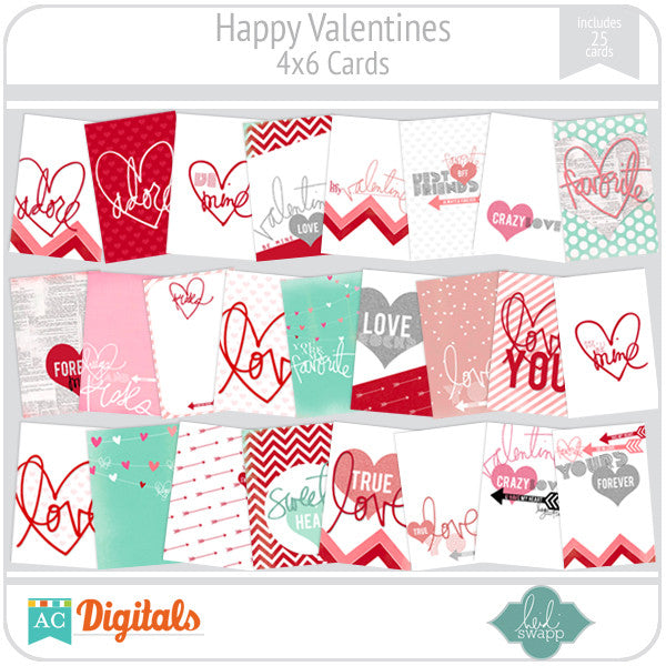 Happy Valentines 4x6 Cards
