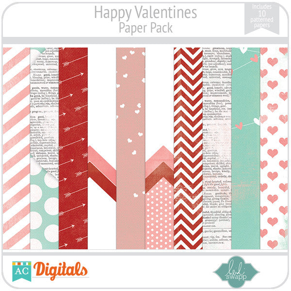 Happy Valentines Paper Pack