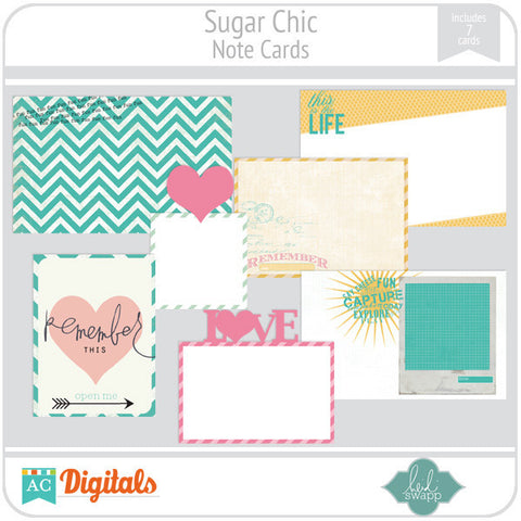 Sugar Chic Note Cards