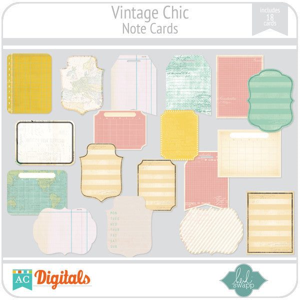 Vintage Chic Note Cards
