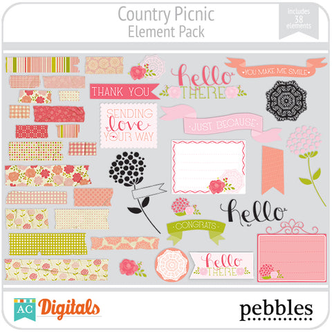 Country Picnic Element Pack