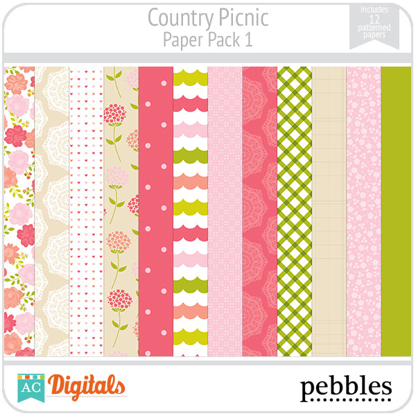 Country Picnic Paper Pack #1