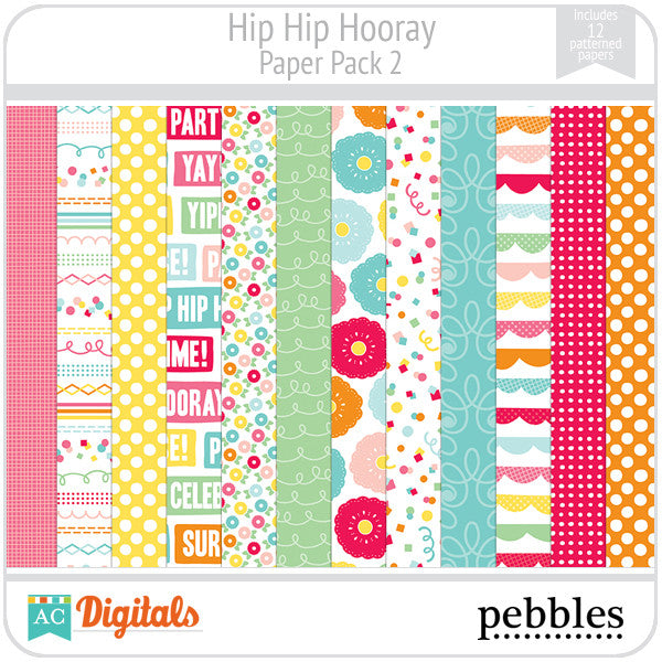 Hip Hip Hooray Paper Pack #2