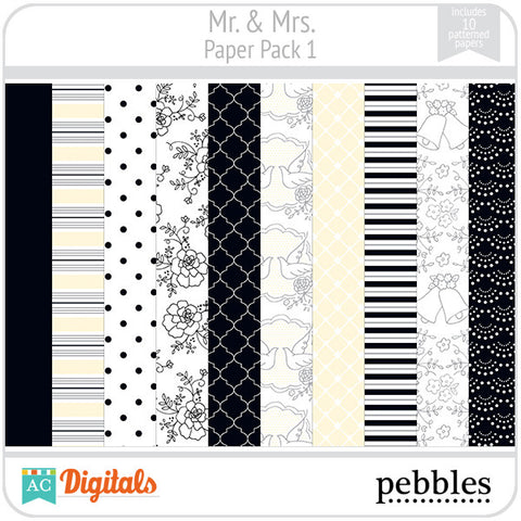 Mr & Mrs Paper Pack #1