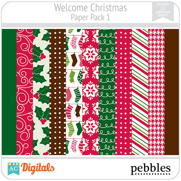 welcome christmas paper pack 1 - Christmas Paper
