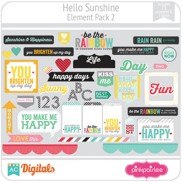 Hello Sunshine Element Pack 2