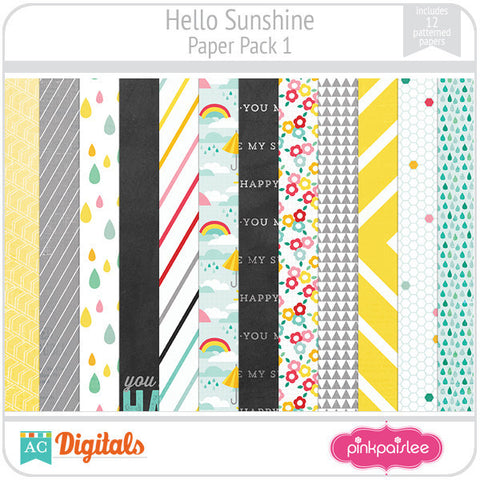 Hello Sunshine Paper Pack 1