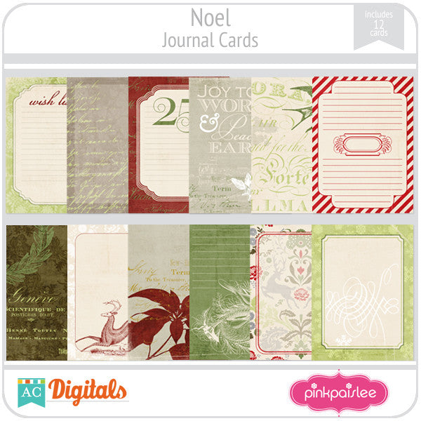 Noel Journal Cards