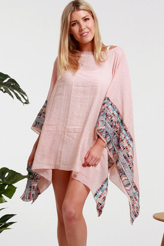 Blush Embroidered Cape