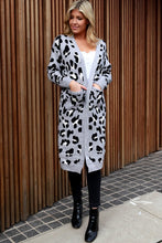 Load image into Gallery viewer, Grey Leopard Cardi - Long