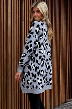 Load image into Gallery viewer, Grey Leopard Cardi - short