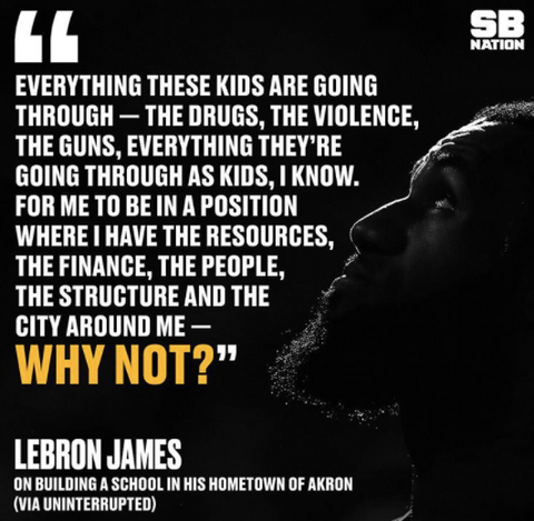 lebron i promise school quote