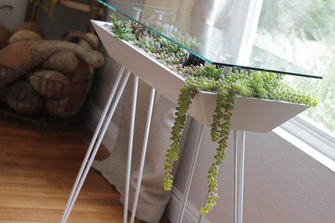 table and planter