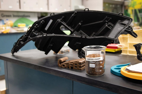 car parts made from coffee chaff