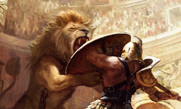"Weekly Dose of Art: ""Gladiator Vs Lion"" by Miguel Coimbra ..."