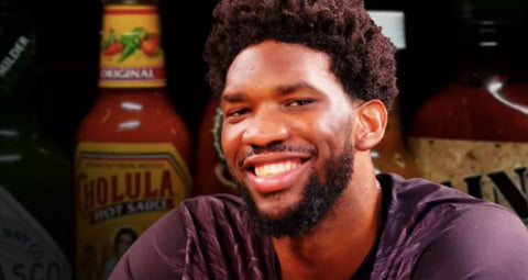 hoel embiid hot ones