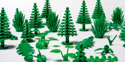 lego green pieces