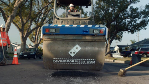 paving for pizza dominos