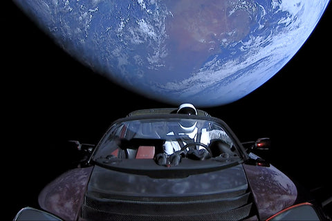 tesla space orbit