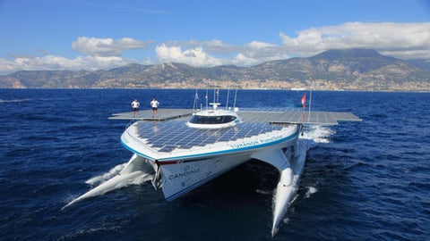 huge solar powered boat