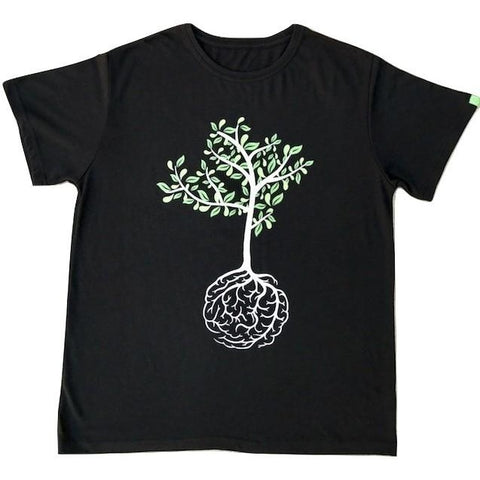 Brain Tree Black Hemp T-shirt