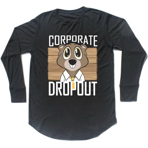 CORPORATE DROPOUT Hemp Long-Sleeve Scoop