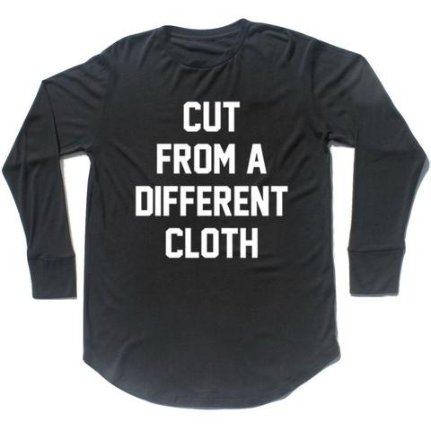 CUT FROM A DIFFERENT CLOTH Hemp Long Sleeve Scoop