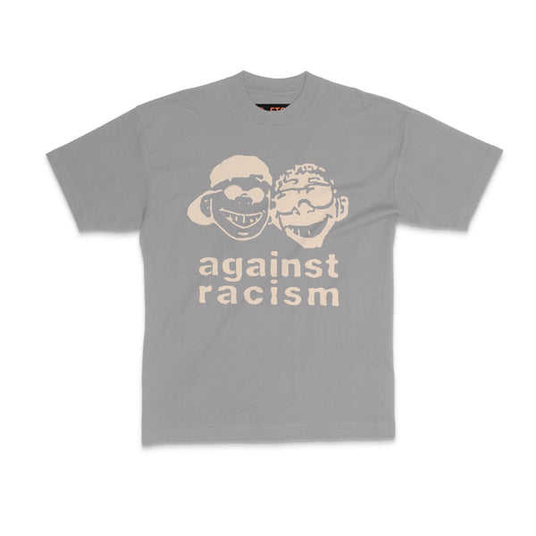 against racism, grey t shirt, vintage, made in america, streetwear