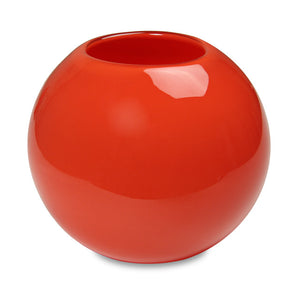 Red Globe Candle Holder