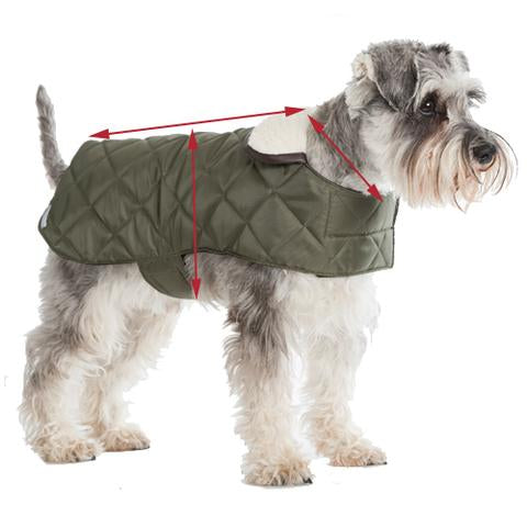 Size guide for dog coats