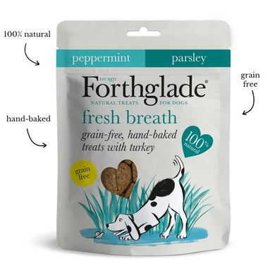 Forthglade - Grain Free Hand Baked Dog Treats with Turkey, Peppermint and Parsley