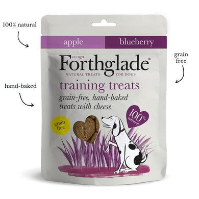 Forthglade - Grain Free Hand Baked Dog Treats with Cheese, Apple and Blueberry