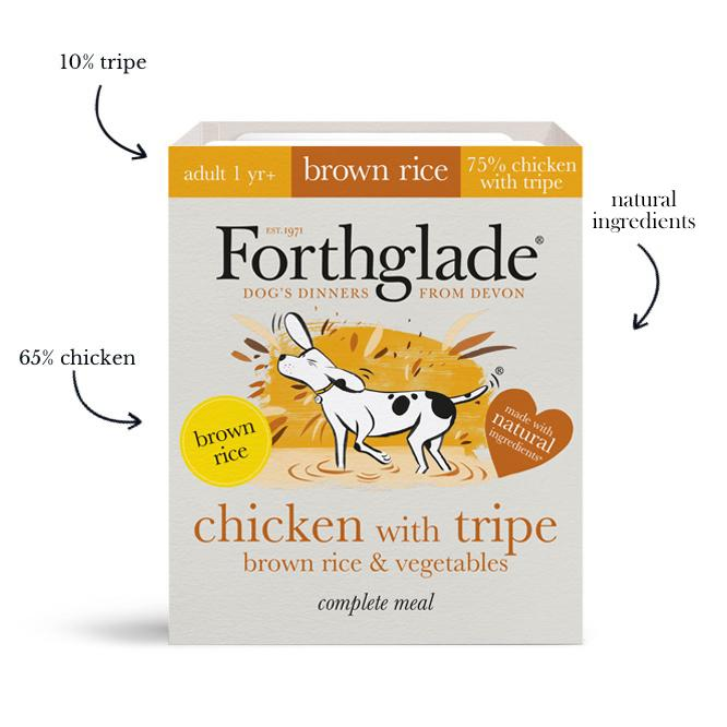 Forthglade - Complete meal - chicken with tripe, brown rice & vegetables