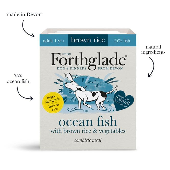 Forthglade - Complete meal - ocean fish with brown rice & vegetables