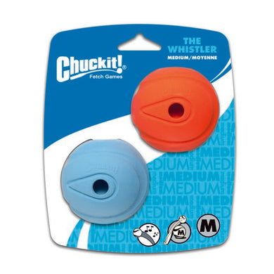Chuckit! The Whistler Ball, Medium - 2 pack