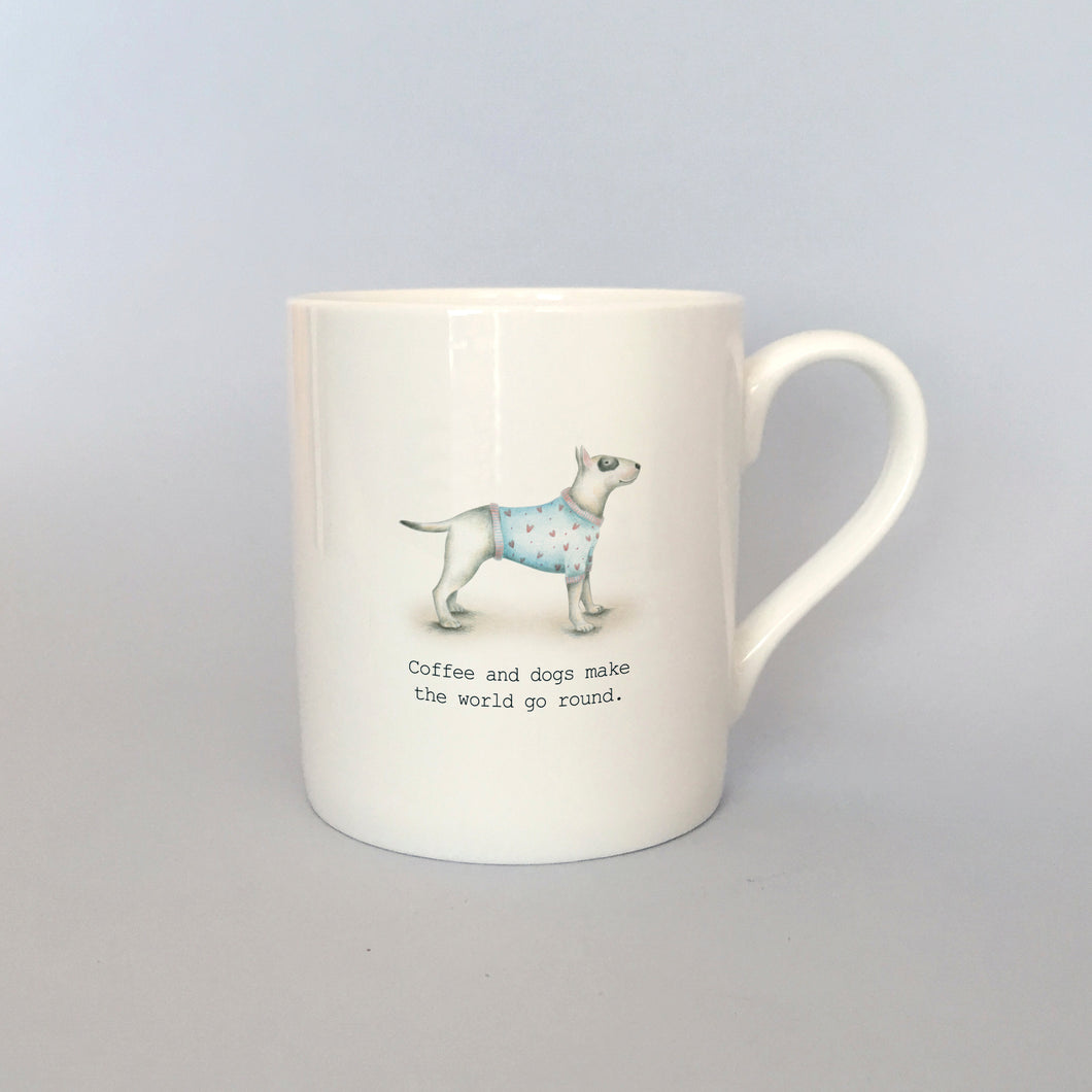 Beautiful Bone China Bull Terrier Mug
