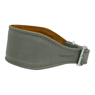Earthbound Leather Whippet Collar Grey