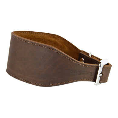 Earthbound Leather Whippet Collar Brown