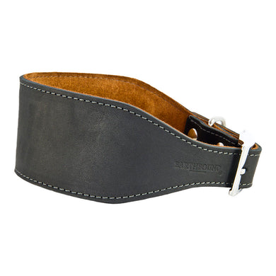 Earthbound Leather Whippet Collar Black