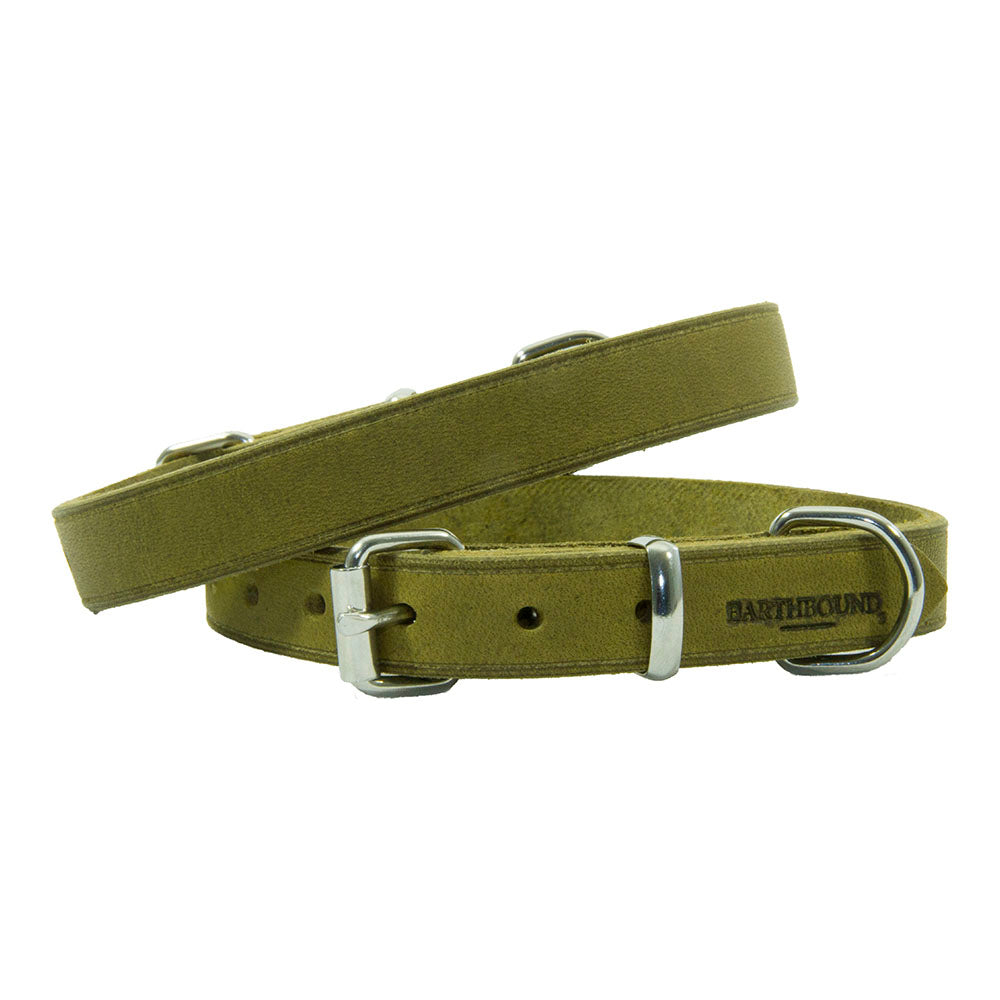Earthbound Soft Leather Collar - Green