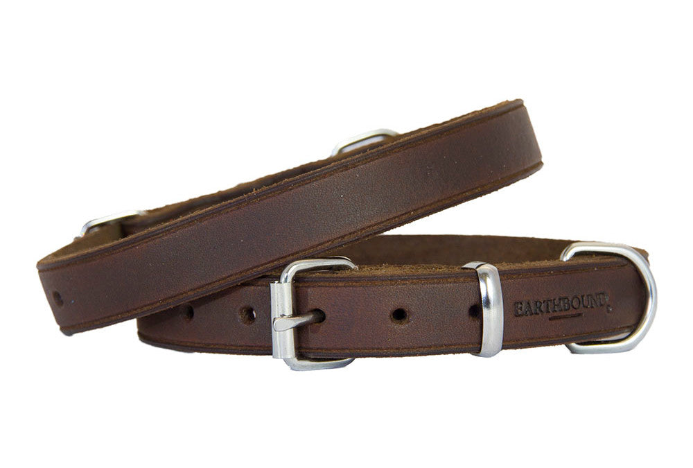 Earthbound Soft Leather Collar - Brown